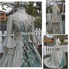 Freeshipping!R-094 19 century Vintage costume Victorian Gothic Lolita/Civil War Southern Belle Ball Halloween dresses Sz US 6-26 //Price: $US $198.00 & Up To 18% Cashback //     #steampunk