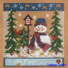Mill Hill #Button #Beads Counted #crossstitch #WINTER CHILL ♥ #ebay #sale #Christmas #holiday #snowman #gift #home #interior #decor #DIY #project #handcraft #handmade #needlework #stitching #create
