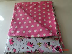 Feeling Pretty Stylish and Cool Minnie Mouse Baby Blanket 100% cotton 44 X 35.5 inches Reversible - pinned by pin4etsy.com