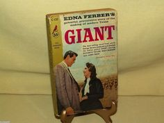Giant by Edna Ferber Pocket Cardinal C-120 2nd Print 1956 James Dean Rock Hudson