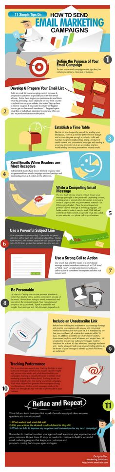 Infographic Inspiration: HOW TO SEND EMAIL MARKETING CAMPAIGNS #design #emailmarketing