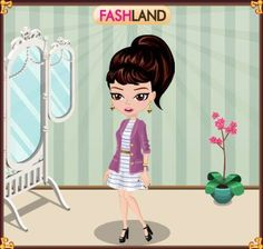 my first outfit in fashland ( a game )
