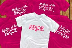 Bride shirts (8) bridal party bridesmaid gift  for bride to be bride gift bride entourage