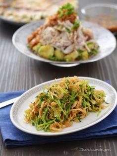 豆苗と切り干し大根のサラダ。(救世主のおかず)と餃子の献立。 : ちょりまめ日和 | ちょりママ(西山京子)オフィシャル料理ブログ