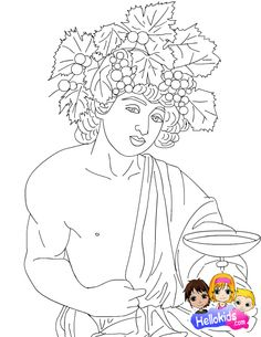 Διόνυσος Ancient Greece, Mythology, Coloring Pages, Disney Characters, Fictional Characters, Autumn, Disney Princess, History, School