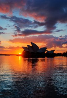Sydney Opera House #Australia #Sunset