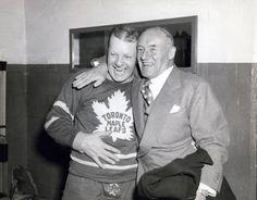 Turk Broda and Conn Smythe Hockey Games, Ice Hockey, Nhl, Lord Stanley Cup, Maple Leafs Hockey, Hockey Pictures, Hockey Stuff, National Hockey League, Toronto Maple Leafs