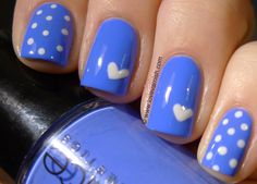 Love. Varnish, chocolate and more...: Wonky hearts are All I Can Blue for you