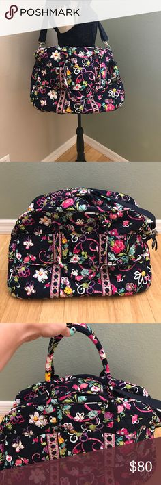 Vera Bradley Grand traveler in Ribbons Vera Bradley Grand traveler in Ribbons. Excellent preowned condition!! Like new! Measurements in photo Vera Bradley Bags Travel Bags