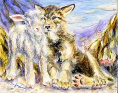 the wolf and the lamb from the book of Isaiah