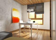 Wnętrze gabinetu z betonem i klasycznymi meblami - Tissu. W projekcie wnętrza klasyczne biurko dodaje przytulności w surowym wnętrzu http://www.tissu.com.pl/zdjecia/310