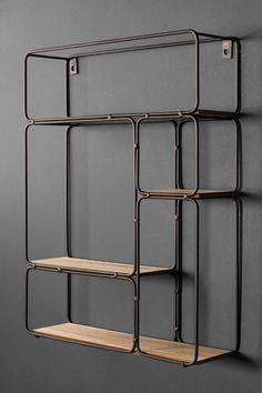 Black Metal Shelf, Wood And Metal Shelves, Industrial Wall Shelves, Wooden Shelves, Metal Walls, Metal Kitchen Shelves, Metal Shelving, Wall Shelving, Black Shelves