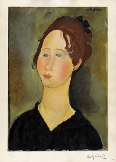 Amedeo Modigliani (Italian, 1884-1920) Woman from the Burgundy (La bourguignonne), N/D 63,5 x 45,5 cm
