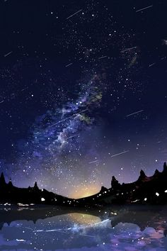 Find images and videos about sky, wallpaper and stars on We Heart It - the app to get lost in what you love. View Wallpaper, Scenery Wallpaper, Galaxy Wallpaper, Nature Wallpaper, Wallpaper Backgrounds, Sky Anime, Anime Galaxy, All Nature, Science And Nature