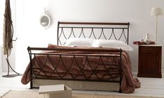 Design Iron Bed from Volcano, Greece. Model: Elina