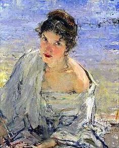 Nicolai Fechin (1881-1955)2, I did see this painting in person in Taos, New Mexico. A place to visit.