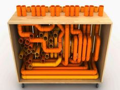 Orange Crafts By Pipe PVC Project