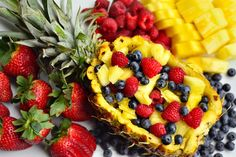 4-Ingredient Fruit Salad Platter and a Pineapple Boat