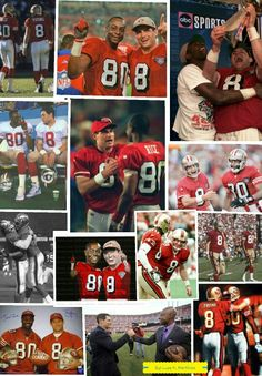Steve Young and Jerry Rice 49ers Nation, Football Baby, College Football, Sf Niners, 49ers Players, Nfl 49ers, American Football Players, Football Conference, Colin Kaepernick