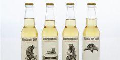 Brooks Dry Cider Packaging Illustrates History Surrounding its Origin #minimalist trendhunter.com