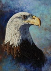 Greg Beecham - Bust Portrait Of An Eagle Looking Right