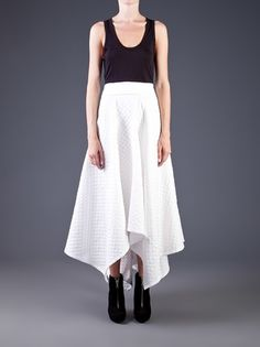 PODOLYAN - asymmetrical fold over skirt