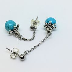 Turquoise earrings that are wonderful as a summer gift to you, or a loved one!