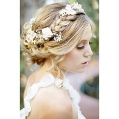 25 of the most beautiful Braided Bridal Updos ❤ liked on Polyvore featuring hair and backgrounds