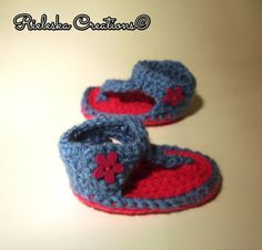 PDF Crochet pattern baby girl sandals /size 0-3 months by Rieles