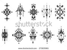Vector Image of Stock Image Vector Tribal Collage- Vector Im.- Vector Image of Stock Image Vector Tribal Collage- Vector Image of Vector Image Stock Tribal Ethnic Style Collection 273563069 - - Navajo Tattoo, Tribal Tattoos, Tatoos, Native American Patterns, Native American Symbols, Tatuaje Navajo, Motifs Aztèques, Art Premier, Ethnic Patterns