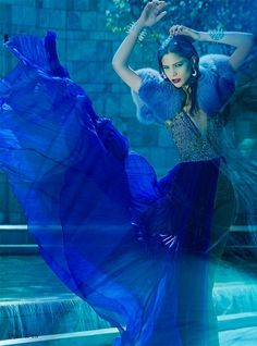 Beautiful Blue Hues / Alexandra May Love Blue, Aqua Blue, Blue Art, Something Blue, Blue Fashion, Trendy Fashion, Electric Blue, Color Azul, Deep Blue