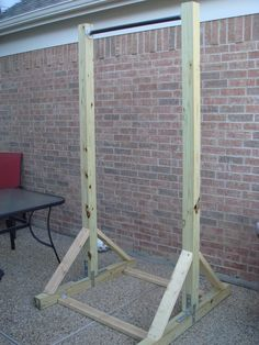 how to build a pull up bar out of wood - Google Search