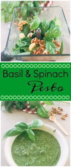 A Vegan Basil Spinach Pesto recipe is a healthy alternative to all other store-bought sauces.