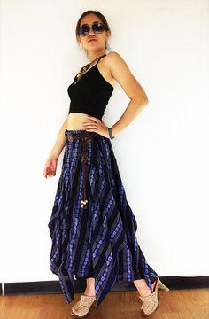 ST185 Women Clothing Organic Cotton Skirts Long Skirts Comfy Skirts Luxury Unique Skirts Maxi Skirt Gypsy Skirt Boho Skirt Navy Blue