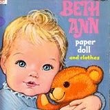 vintage  beth ann  paper doll