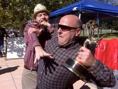 Dean Norris trying to steal Bryan Cranston's Emmy
