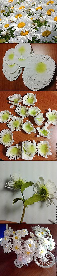 Делаем ромашки из фоамирана - Ярмарка Мастеров - ручная работа, handmade