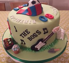 Football & other hobbies cake