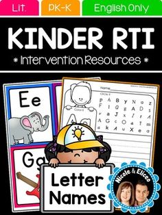 Letter Identification: Letter Identification Activities - Letter Recognition - Kindergarten RTI - Letter identification is a tough skill to master for some students. When I taught Response to Intervention (RTI) groups, I developed materials to help my students master letter identification, letter-sound correspondence, and sight word recognition skills.