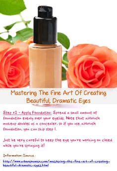Mastering the fine art of creating beautiful, dramatic eyes - Step #2: Spread a small amount of foundation evenly over your eyelids... Read on: http://www.urbanewomen.com/mastering-the-fine-art-of-creating-beautiful-dramatic-eyes.html