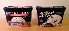 Breyers Strawberry All natural cup icecream packing dedign