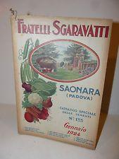 Agraria - Catalogo Fratelli Sgaravatti Catalogo Sementi Semi 1924 Saonara Padova
