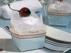 Sweet Treats Collection: Cupcake Towel Favour - Purple Swan Gifts