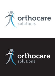 Orthocare Solutions Main Logo and Reverse by Marstudio © www.marstudio.com - Orthopedic Logo - Healthcare Logo