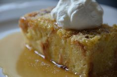 When I was in New Orleans I had a coconut bread pudding at Deanie's and also a creole bread pudding at Commander's Palace with whiskey sauce. I wanted to make my own version and combine the two. I'...