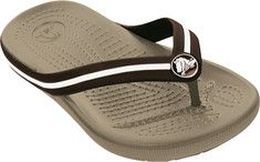 Crocs Crocband Flipswitch in Khaki/Brown
