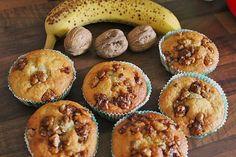 Bananenmuffins mit Walnuss - Topping, ein sehr leckeres Rezept aus der Kategorie Kuchen. Bewertungen: 135. Durchschnitt: Ø 4,5.