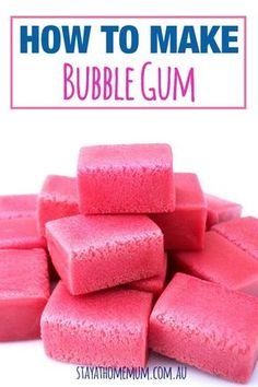 Now this isn't just a recipe, it's a science experiment! How cool is that!!! Here's how to make Bubble Gum!