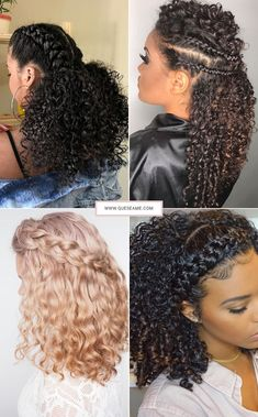Penteados para Cabelos Cacheados Curly Bridal Hair, Bridal Hair And Makeup, Long Curly Hair, Hair Makeup, Curly Hair Styles, Natural Hair Styles, Natural Hair Moisturizer, Birthday Hair, Colored Curly Hair