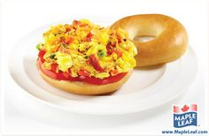 This quick and easy Breakfast Bagel is a hearty meal idea packed with protein, and perfect for those busy mornings on the go! Breakfast Bagel, Breakfast Ideas, Open Faced Sandwich, Piece Of Bread, Quick And Easy Breakfast, Morning Food, Have Time, Bacon, Brunch